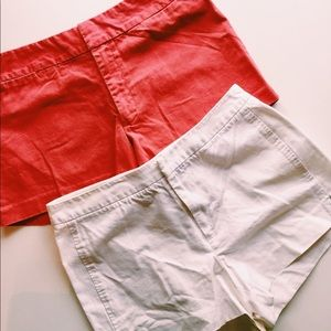 Lot of Vintage J crew chino shorts